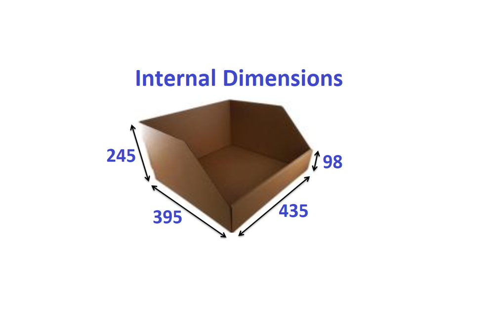 Wide Shelf Pick Box Single SKU 43.5cm Deep from Kebet Packaging in recyclable cardboard