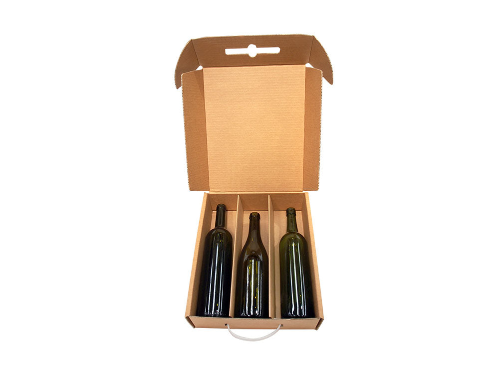 3 bottle cellar door from Kebet Packaging in recyclable cardboard