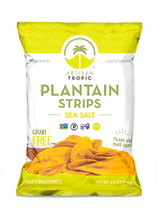 Plantain Strips: Sea Salt 4.5oz - Box containing 12 bags