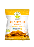 Plantain Strips: Sweet 1.75oz - Box containing 16 bags