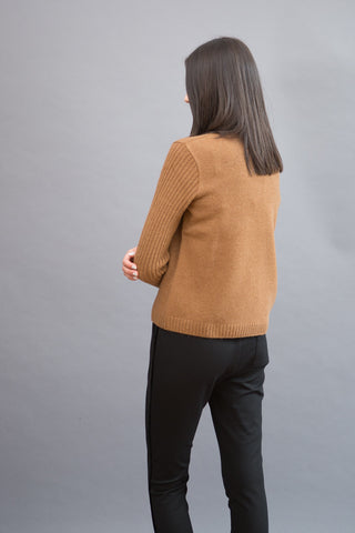Sibel Saral 3/4 Sleeve Sweater With Pocket - grethen house