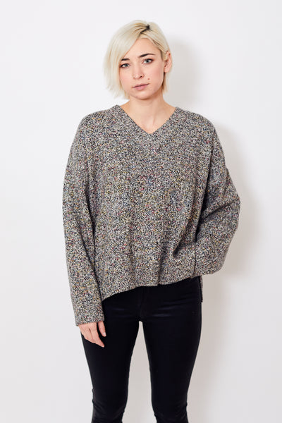 6397 Wide V Neck Sweater