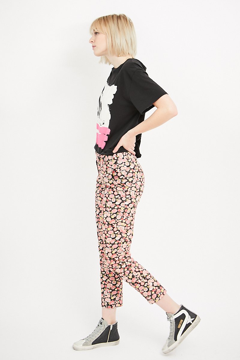 6397 Cropped Floral Trouser