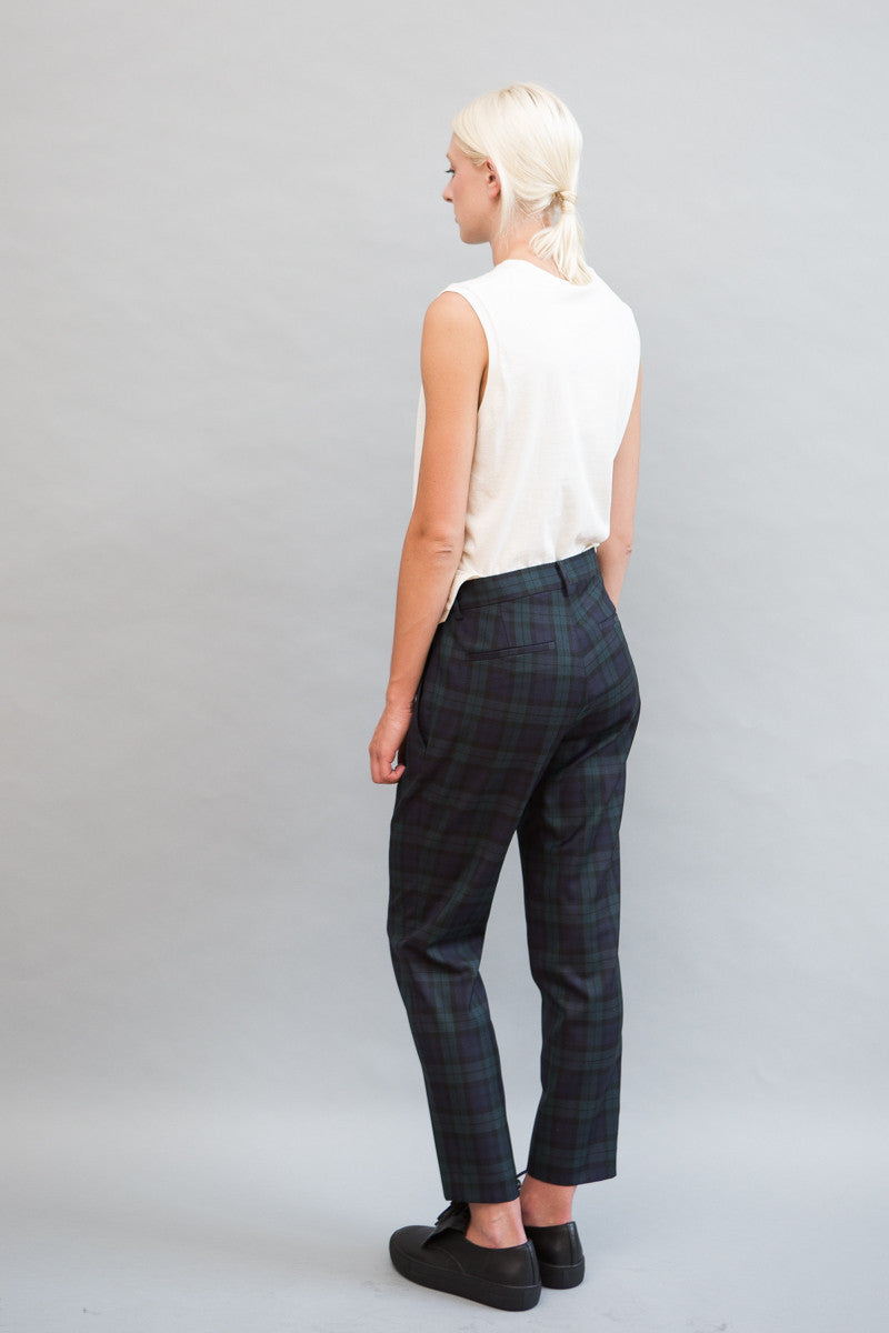 6397 Cropped Plaid Trouser - grethen house