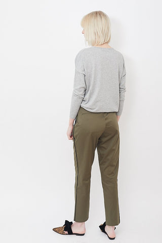 6397 Piped Cropped Trouser