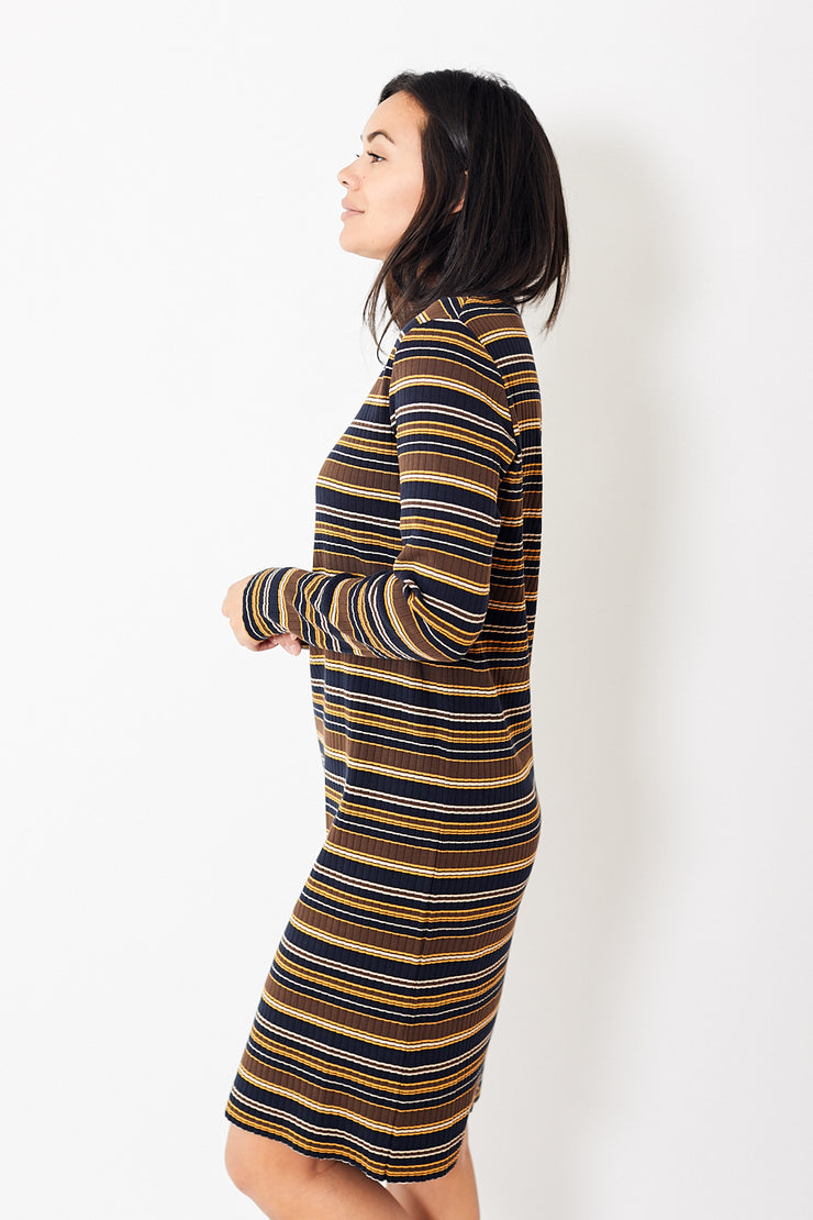 6397 Stripe LS Dress