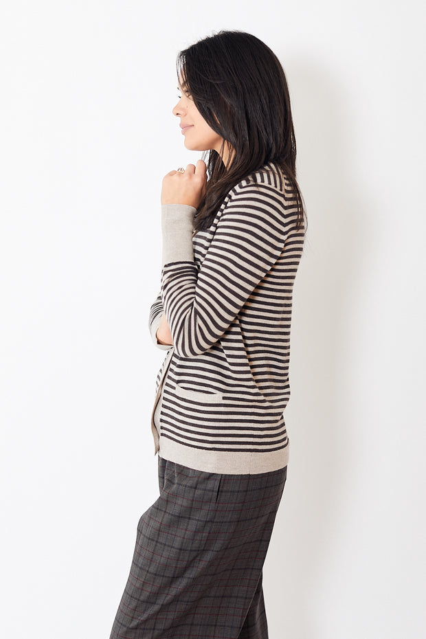 6397 Striped Boy Cardigan