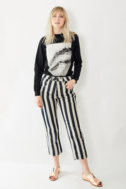 6397 Striped Shorty Pants