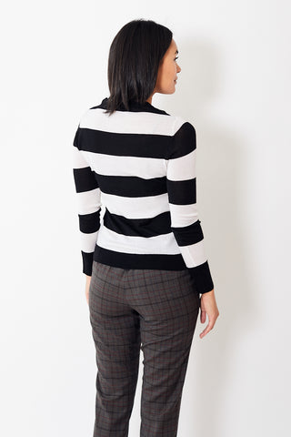 6397 Striped Shrunken Crew