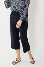 6397 Wide Leg Pull On Wool Pant