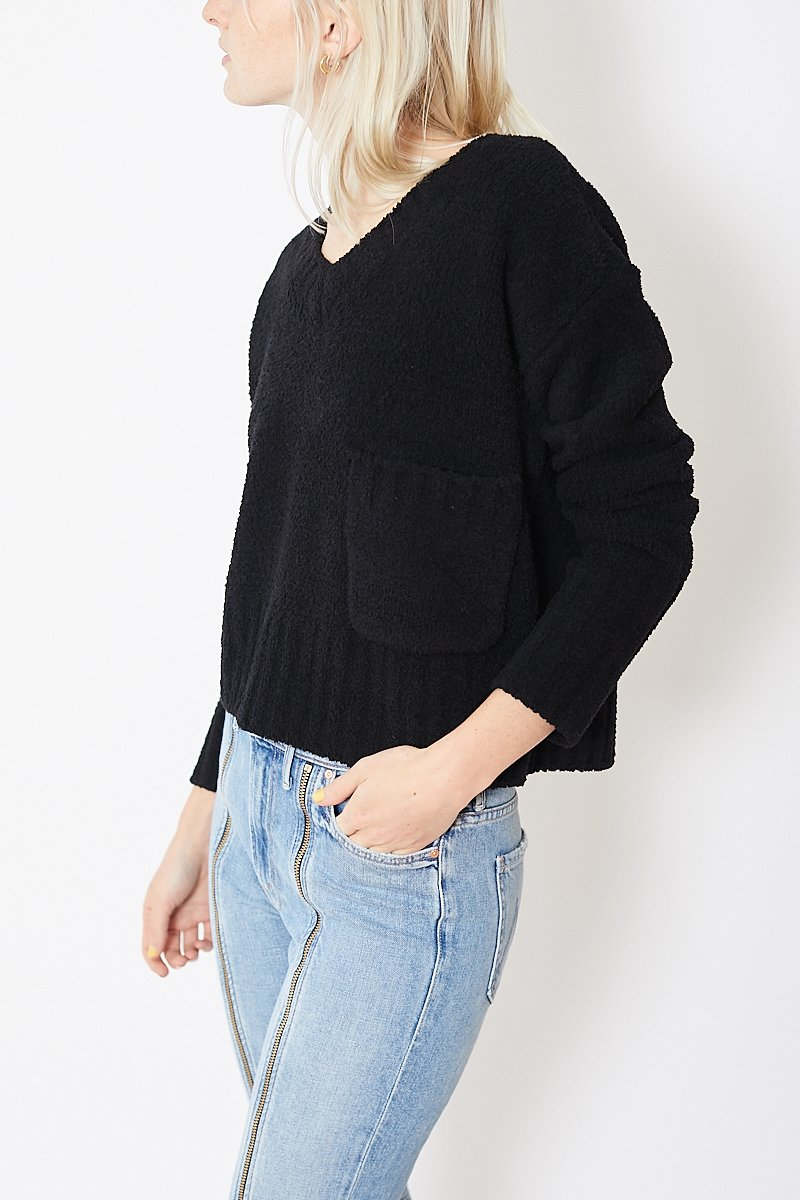 ATM Anthony Thomas Melillo Chenille V-Neck Sweater