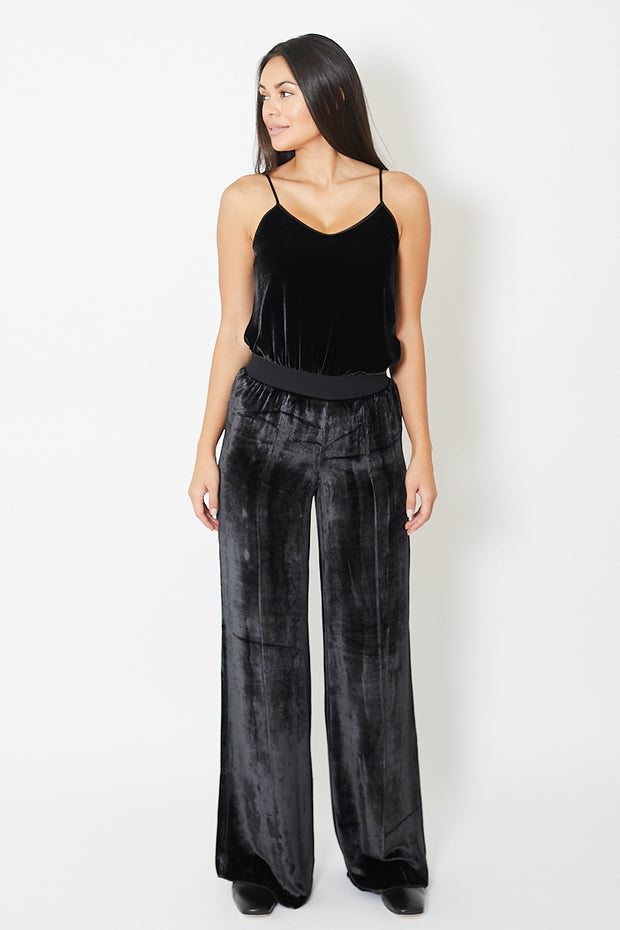 ATM Anthony Thomas Melillo Drapey Velvet Wide Leg Pant