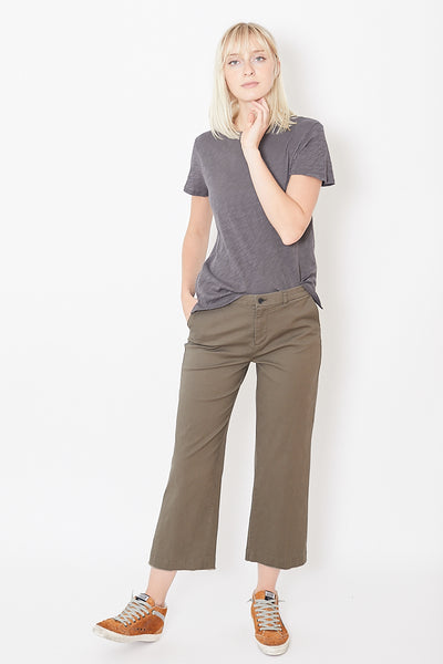 ATM Anthony Thomas Melillo Enzyme Wash Cropped Boyfriend Pant