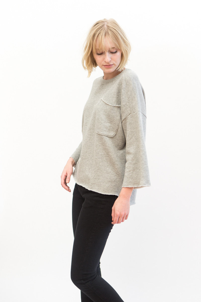 ATM Anthony Thomas Melillo Oversize Sweatshirt With Pocket Detail