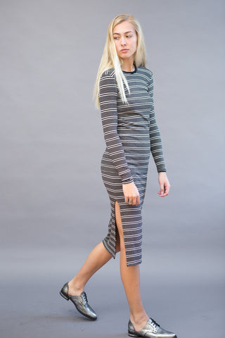 ATM Anthony Thomas Melillo Rib Skirt Engineer Stripe