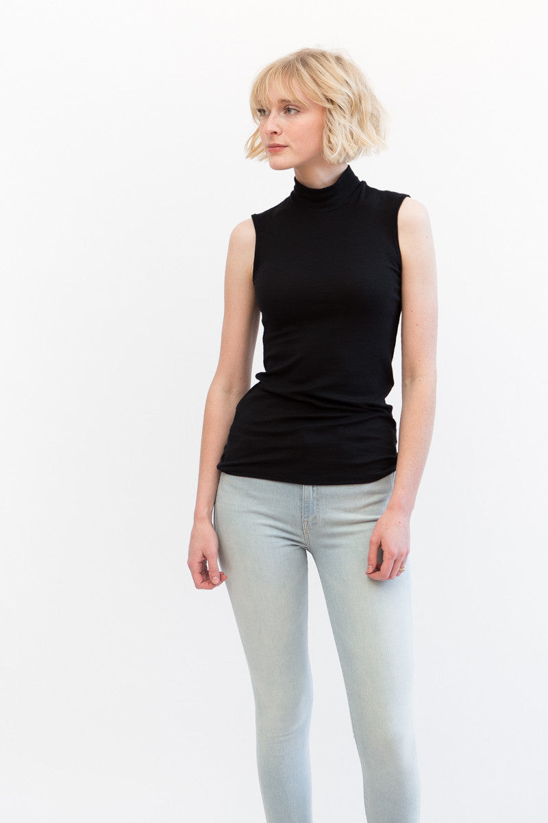ATM Anthony Thomas Melillo Sleeveless Mock Neck Modal