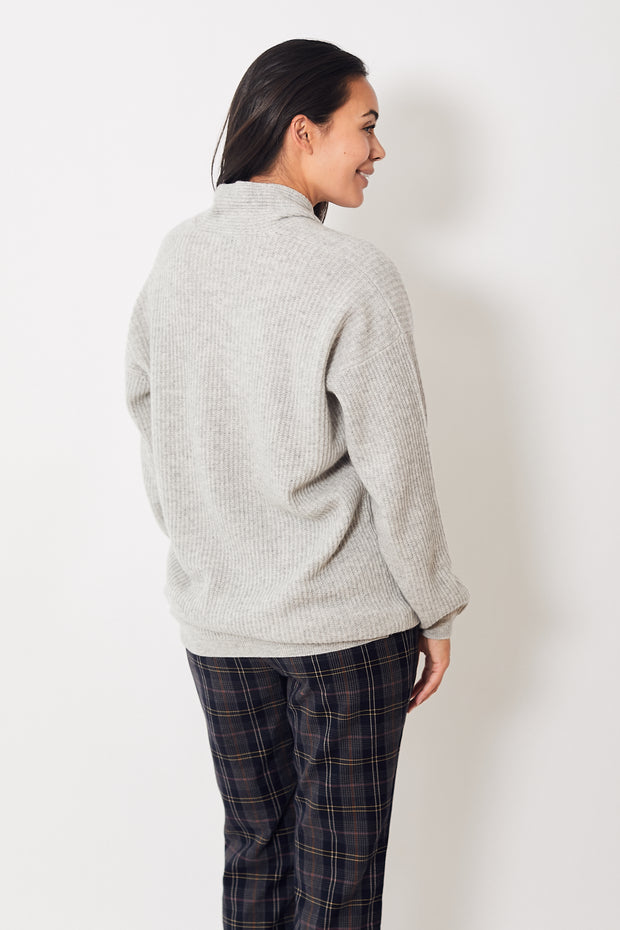 Allude Long Shawl Collar Sweater