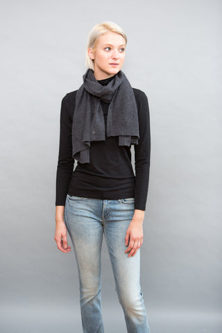 Allude Button Scarf - grethen house