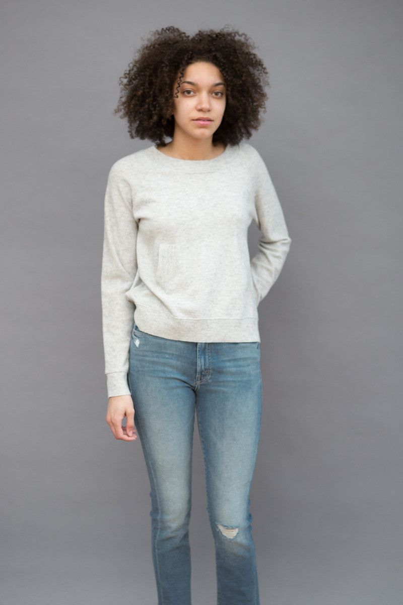Allude Long Sleeve Crew with Pocket