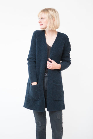 Allude Open Cardigan With Pockets