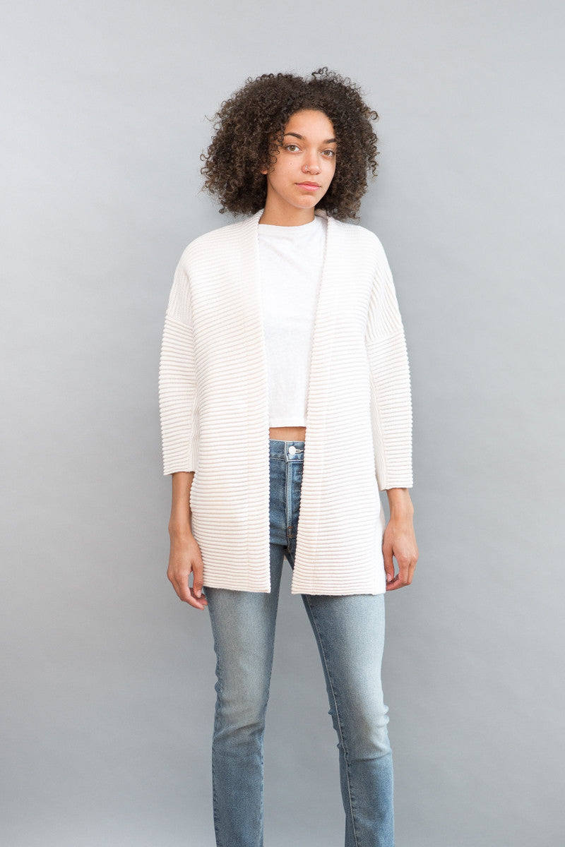 Allude Rib Combo Sweater Jacket - grethen house