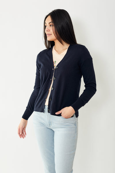 Allude V Neck Cardigan