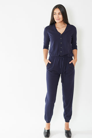 Allude V Neck Jumpsuit