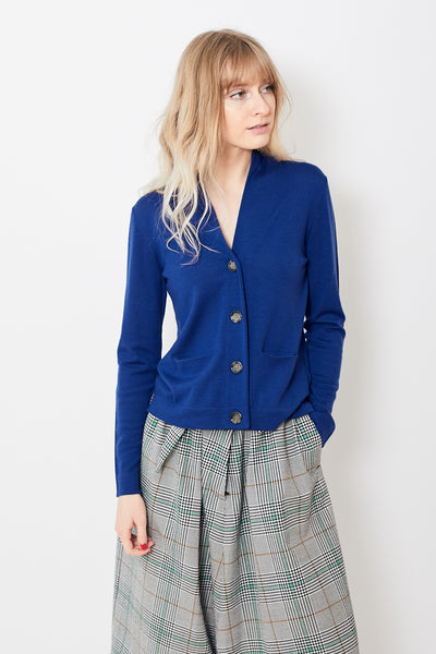 Allude Wide Collar Cardigan