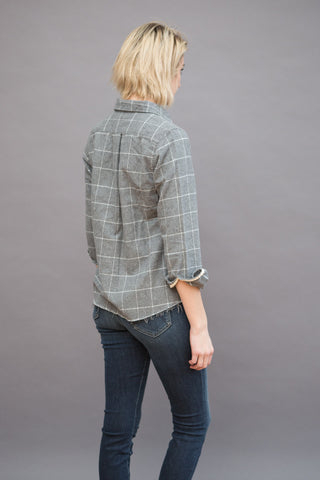 American Colors Raw Edge Button Down