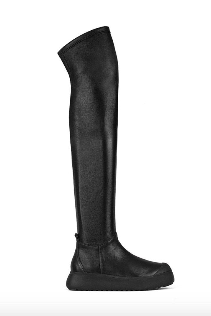 Ateljē 71 Leather Over Knee Boot - grethen house