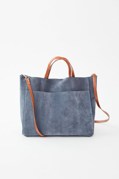 B. May Tote w/Front Pocket X Body