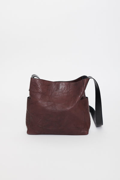B.May Pocket Messenger Bag Rumpled Sheepskin