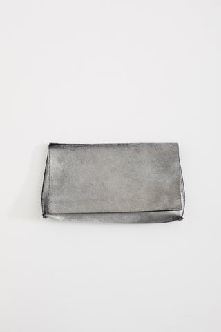 B.may Foldover Clutch Hair On Calf