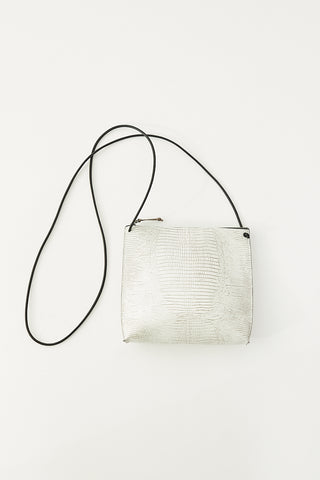 B.may Strappy Pouch Embossed Lizard