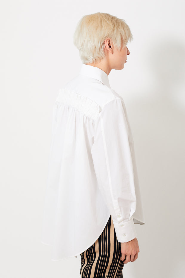 Bagutta Alexandra Cotton Shirt w/ Pleats