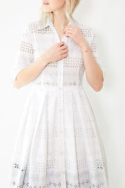 Bagutta Eyelet Shirt Dress