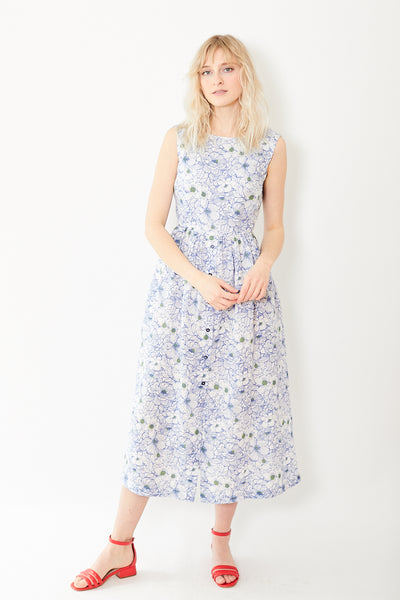 Bagutta Tania Sleeveless Voile Dress