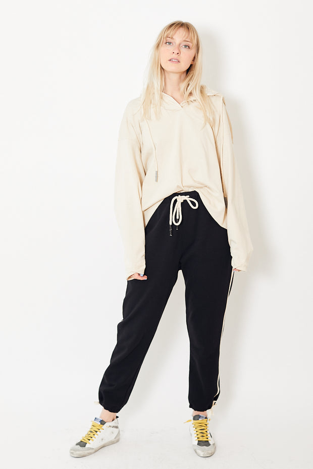 Bassike Fleece Tied Hem Trackpant