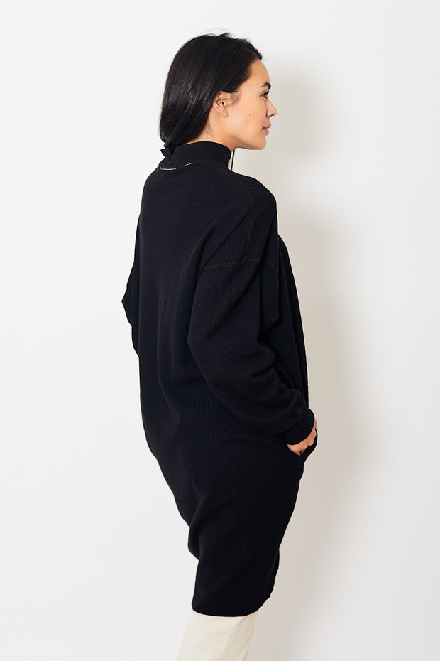 Bassike Waffle Rib Funnel Neck Dress