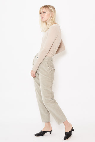 Berwich Chicca Wide Wave Corduroy Crop