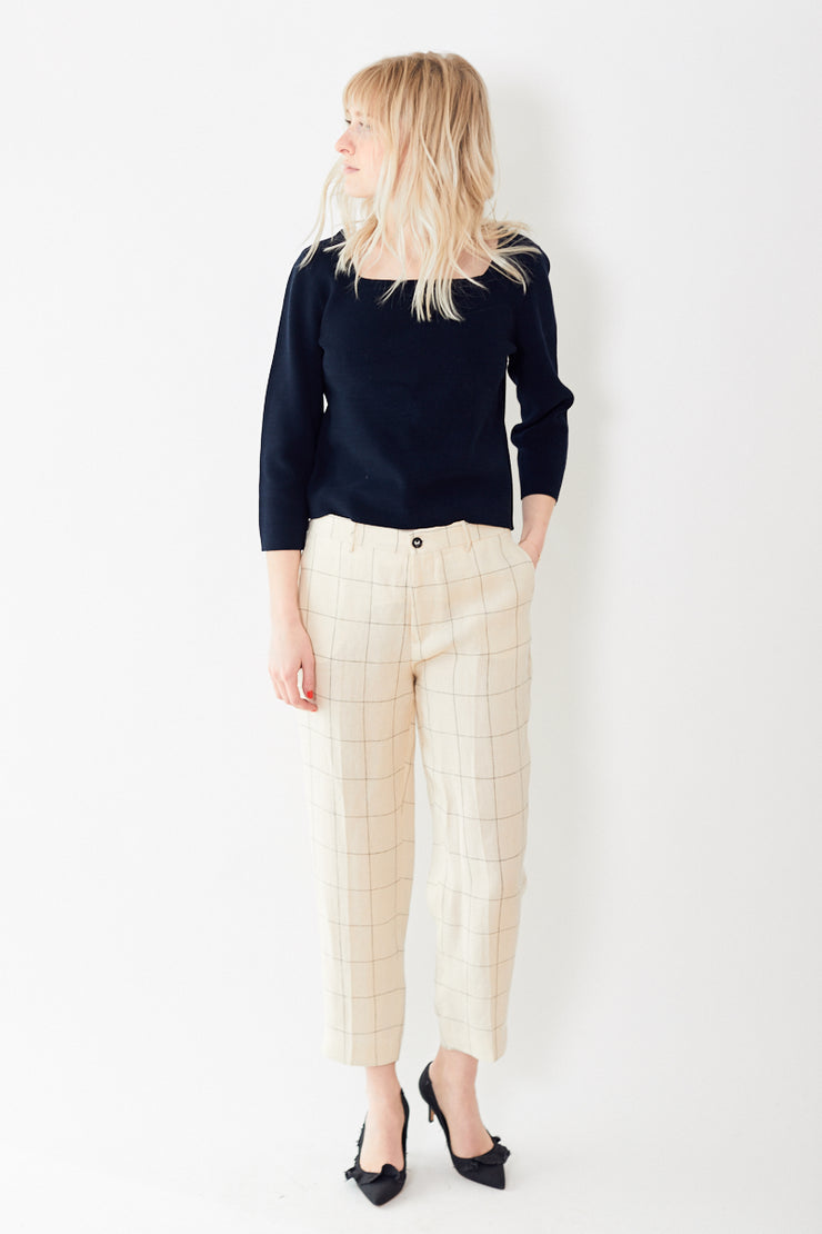 Berwich High Waisted Plaid Pant