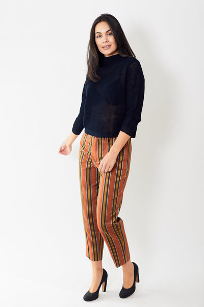 Berwich High Waisted Stripe Pant