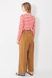 Berwich Wide Leg Cotton Drawstring Pant