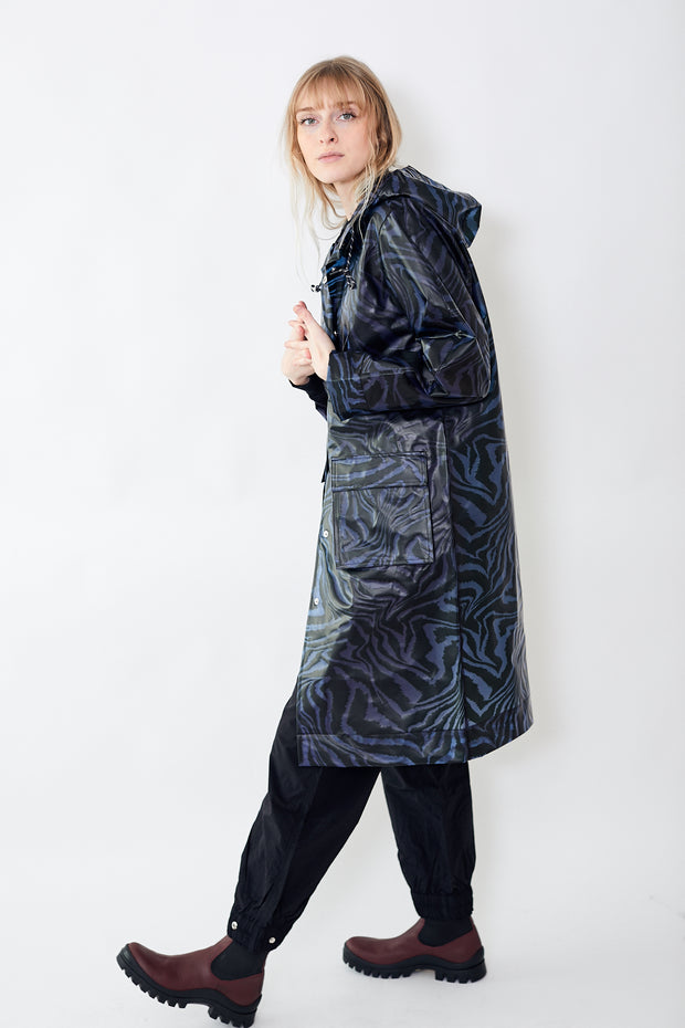 Biodegradable Long Jacket Forever Blue