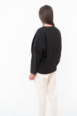 Black Crane Cotton Jacket