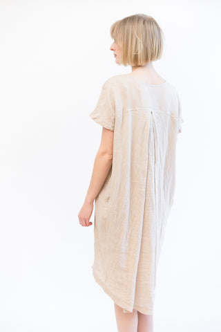 Black Crane Pleat Cocoon Dress