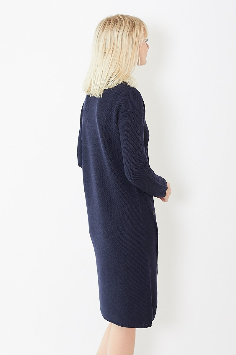 Pomandere Knit Dress w/ Buttons