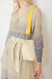 Clare V. Shoulder Strap Yellow Cotton Webbing