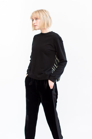 Clu Contrast Back Paneled Sweatshirt
