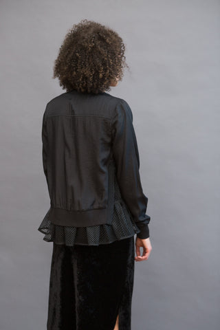 Clu Mesh Lined Bomber Jacket